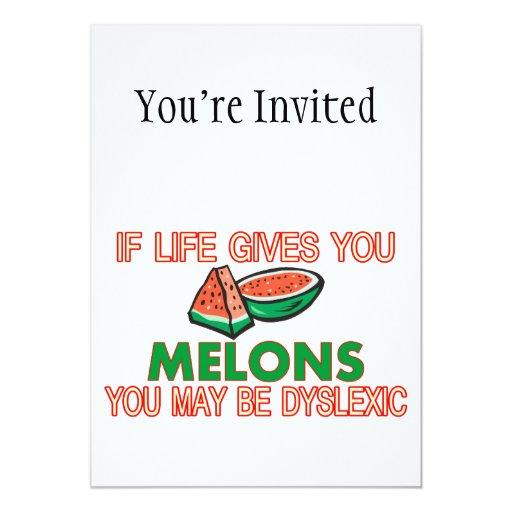 """Dislexia del melón invitación 5"""" x 7"""""""