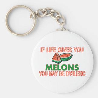 Dislexia del melón llavero personalizado