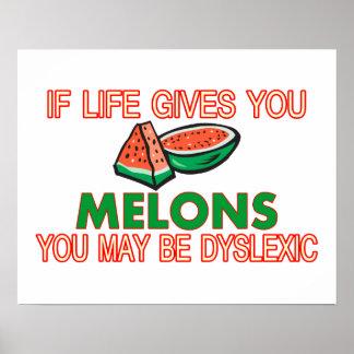 Dislexia del melón impresiones