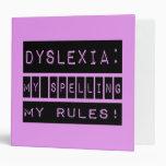 Dislexia: ¡Mi deletreo mis reglas!  Disléxico