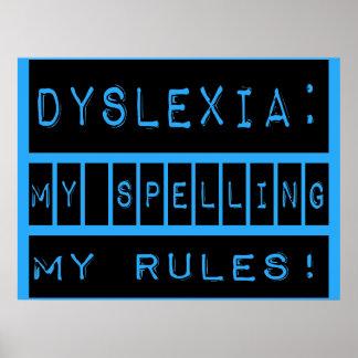 Dislexia: ¡Mi deletreo mis reglas!  Disléxico Posters