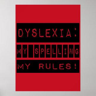 Dislexia: ¡Mi deletreo mis reglas!  Disléxico Impresiones