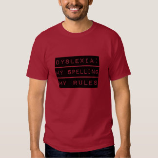 Dislexia: Mi deletreo mis reglas (disléxico) Poleras