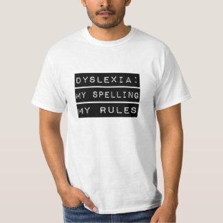 Dislexia: Mi deletreo mis reglas (disléxico) Remeras