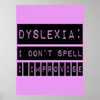 Dislexia: No deletreo - improviso - al disléxico Impresiones