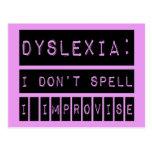 Dislexia: No deletreo - improviso - al disléxico Postales