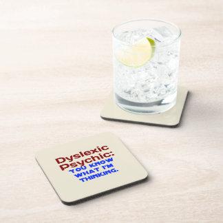 Disléxico psíquico posavasos de bebidas