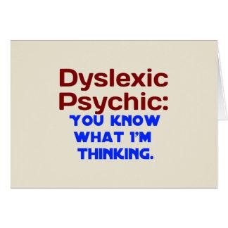 Disléxico psíquico tarjeta de felicitación