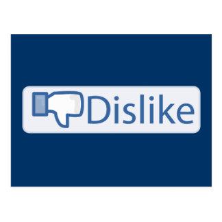 Dislike Button Postcard