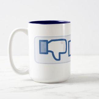Dislike Button Two-Tone Coffee Mug