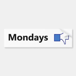 Dislike Mondays - Bumper Sticker (Black Text) Car Bumper Sticker
