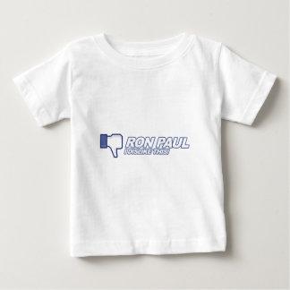 Dislike Ron Paul - 2012 election president vote Baby T-Shirt