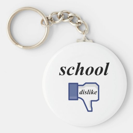 DISLIKE SCHOOL KEYCHAIN
