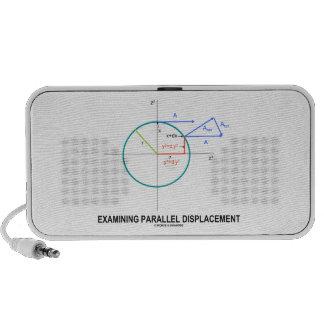 Dislocación paralela de examen geometría mini altavoces