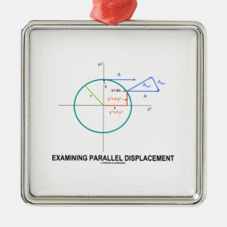 Dislocación paralela de examen (geometría) adornos de navidad