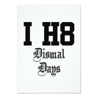 Dismal days custom announcement
