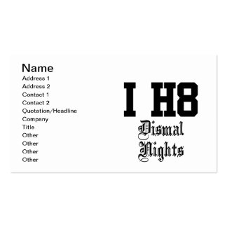 dismal nights business card template