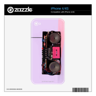 Dismantled Portable Stereo iPhone 4S Decals