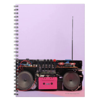 Dismantled Portable Stereo Spiral Notebook