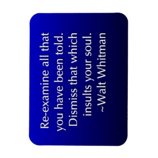 Dismiss What Insults Your Soul Rectangular Photo Magnet