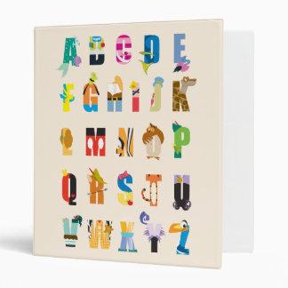 Disney Alphabet Mania 3 Ring Binder