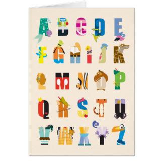 Disney Alphabet Mania Card