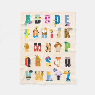 Disney Alphabet Mania Fleece Blanket