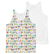 Disney Alphabet Mania Pattern All-Over-Print Tank Top