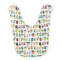 Disney Alphabet Mania Pattern Baby Bib