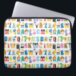 "Disney Alphabet Mania Pattern Laptop Sleeve<br><div class=""desc"">This fun Disney alphabet pattern features all your favorite Disney and Pixar characters.</div>"