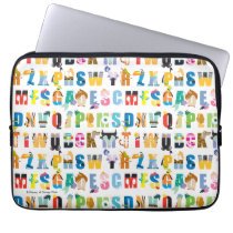 Disney Alphabet Mania Pattern Laptop Sleeve