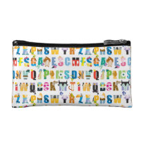 Disney Alphabet Mania Pattern Makeup Bag