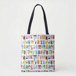 Disney Alphabet Mania Pattern Tote Bag