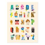Disney Alphabet Mania Postcard at Zazzle