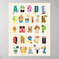Disney Alphabet Mania Poster
