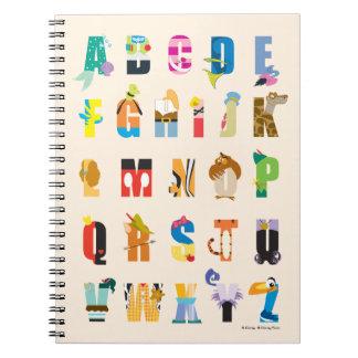 Disney Alphabet Mania Spiral Notebook