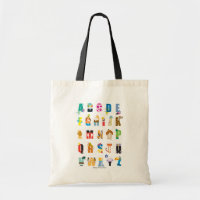 Disney Alphabet Mania Tote Bag