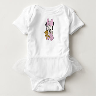 Disney Baby Minnie Mouse With Teddy Bear Baby Bodysuit