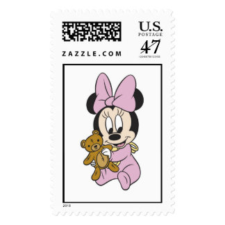 Disney Baby Minnie Mouse With Teddy Bear Stamp