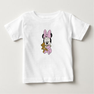 Disney Baby Minnie Mouse With Teddy Bear T Shirts