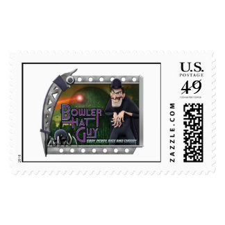 Disney Bowler Hat Guy In Scary Frame Stamps