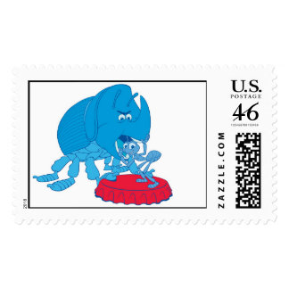 Disney Bug s Life Flik and Dim Postage Stamp