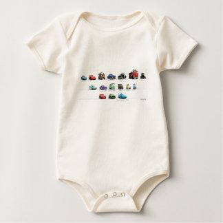 Disney Cars Lineup Baby Bodysuit