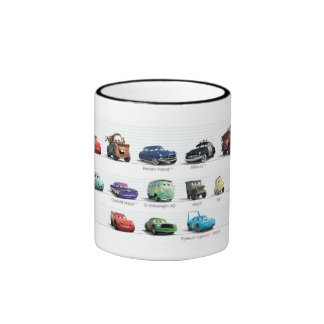 Disney Cars Lineup Ringer Coffee Mug