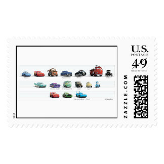 Disney Cars Lineup Stamp