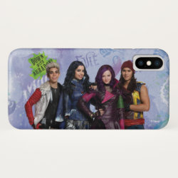 Case-Mate Barely There Apple iPhone XS Case with Descendants Down With Auradon! design