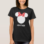 """Disney Family Vacation - Minnie   Add Your Name T-Shirt<br><div class=""""desc"""">Going on a Disney family vacation? Customize these matching Mickey and Minnie shirts for the whole family  by adding your name,  year or custom text.</div>"""
