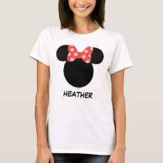 Disney Family Vacation - Minnie | Add Your Name T-shirt at Zazzle