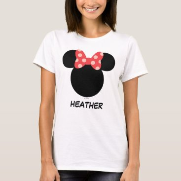 MickeyAndFriends Disney Family Vacation - Minnie | Add Your Name T-Shirt