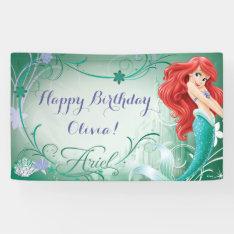 Disney Frozen Ariel Birthday Banner at Zazzle